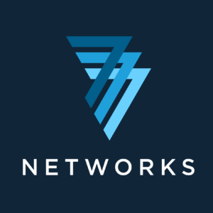 777 Networks logo on blue